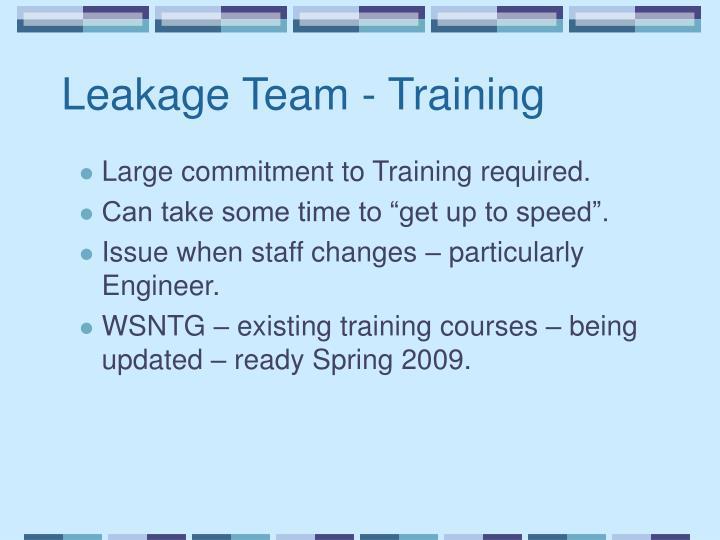 Leakage Team - Training