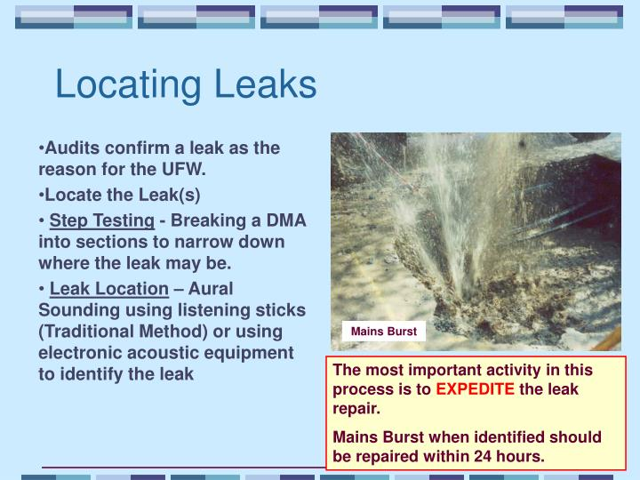 Locating Leaks