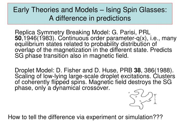 Early Theories and Models –