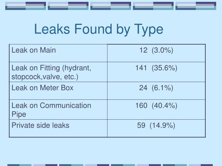Leaks Found by Type