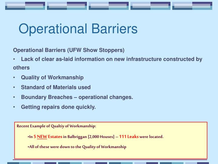 Operational Barriers