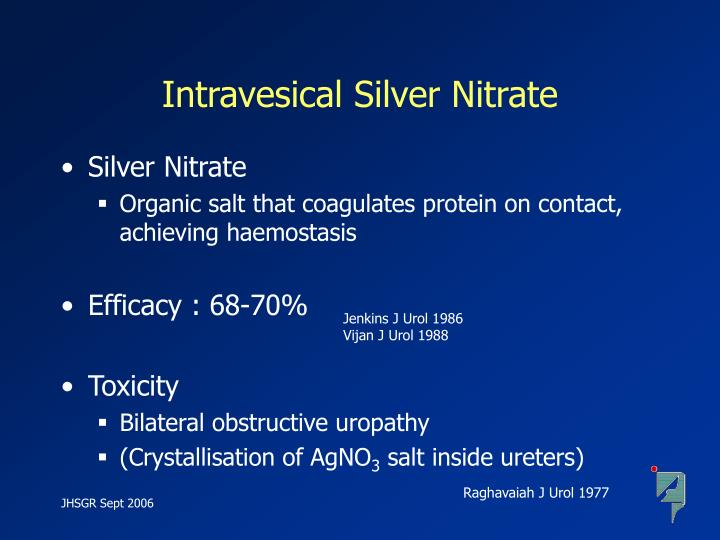 Intravesical Silver Nitrate