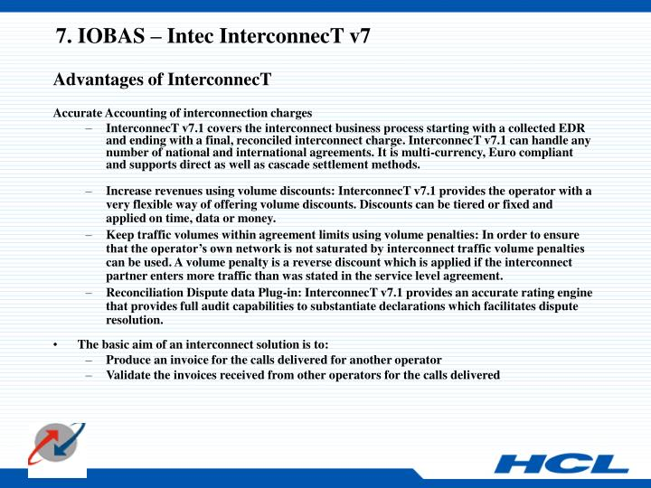 7. IOBAS – Intec InterconnecT v7