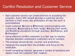 conflict resolution and customer service