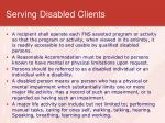 serving disabled clients