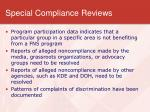 special compliance reviews1