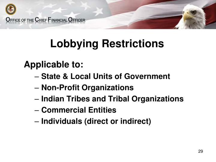 Lobbying Restrictions
