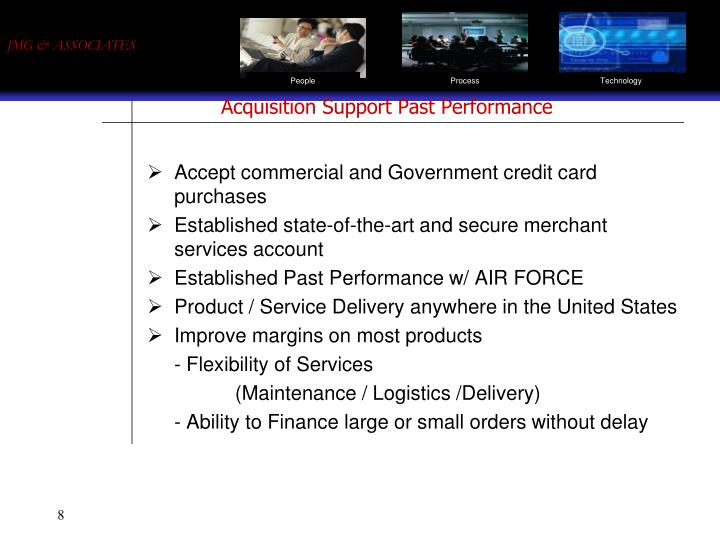 Acquisition Support Past Performance