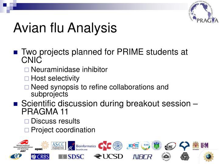 Avian flu Analysis
