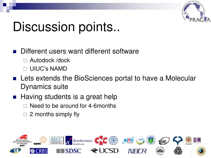 Discussion points..