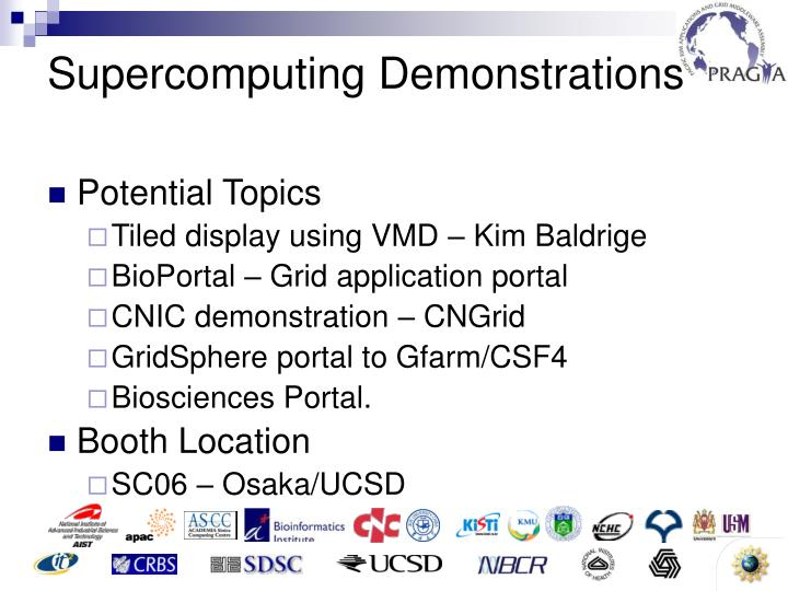 Supercomputing Demonstrations