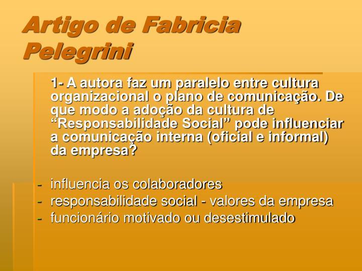 Artigo de Fabricia Pelegrini