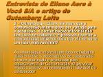 entrevista de eliane aere voc s a e artigo de gutemberg leite1