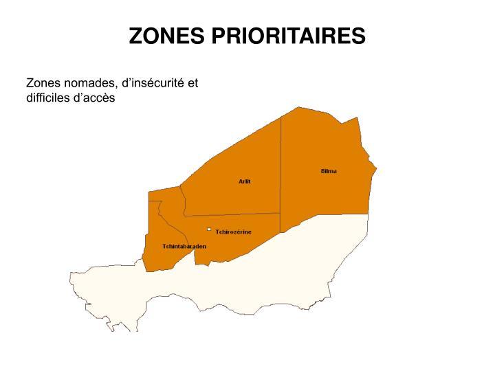 ZONES PRIORITAIRES