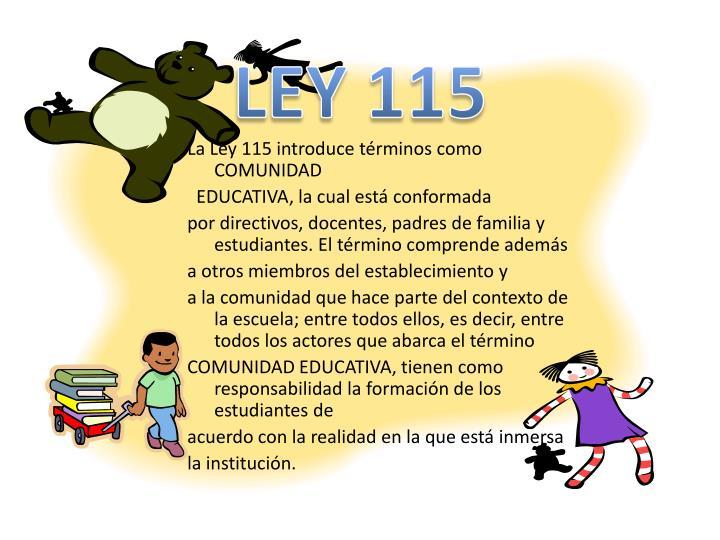 LEY 115