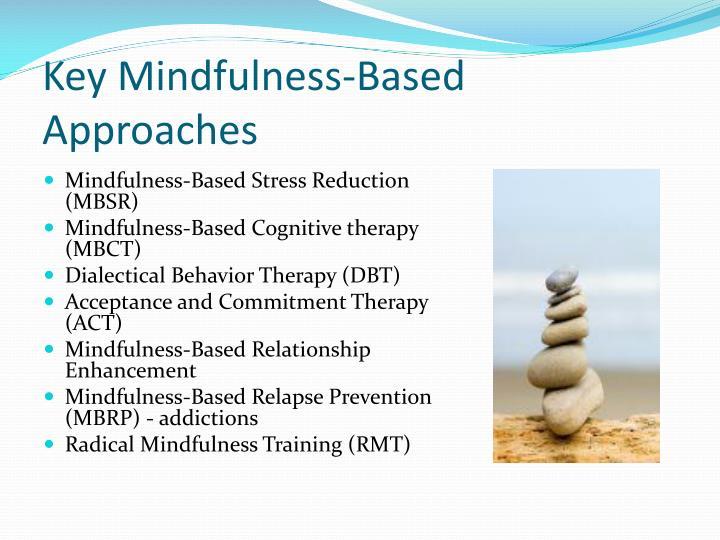 Key Mindfulness-Based Approaches