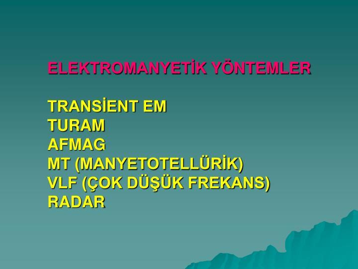 ELEKTROMANYETİK
