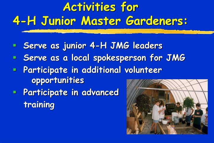 Activities for