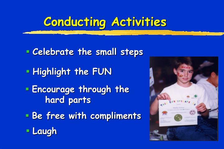 Conducting Activities