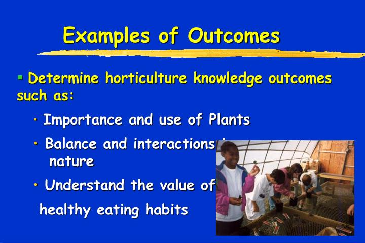 Examples of Outcomes