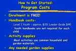 how to get started program costs