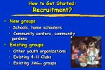 how to get started recruitment1