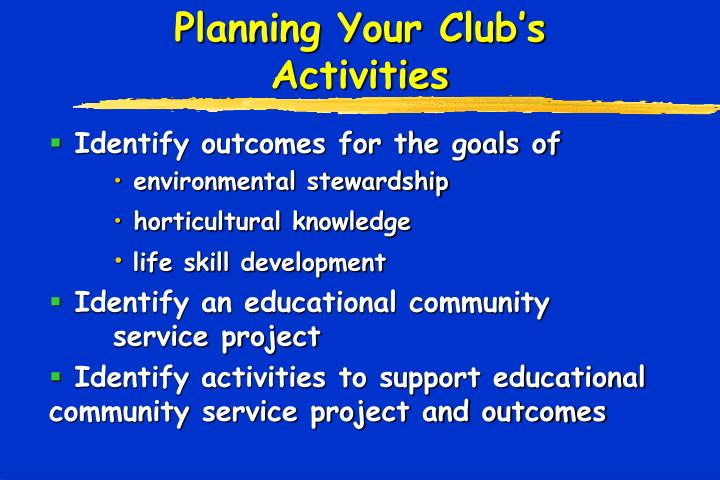 Planning Your Club's