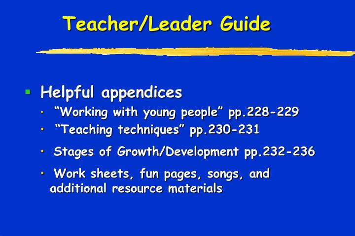 Teacher/Leader Guide