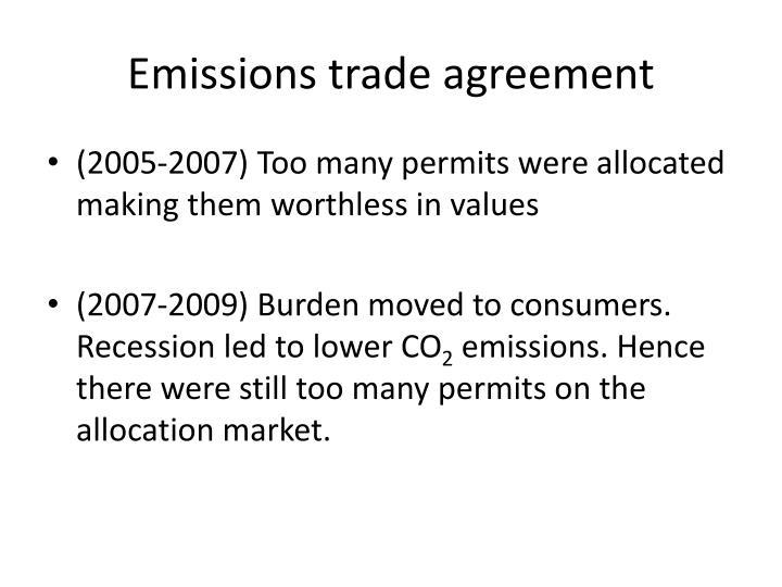 Emissions trade agreement