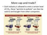more cap and trade