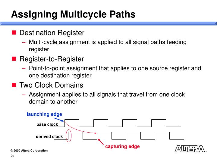 Assigning Multicycle Paths