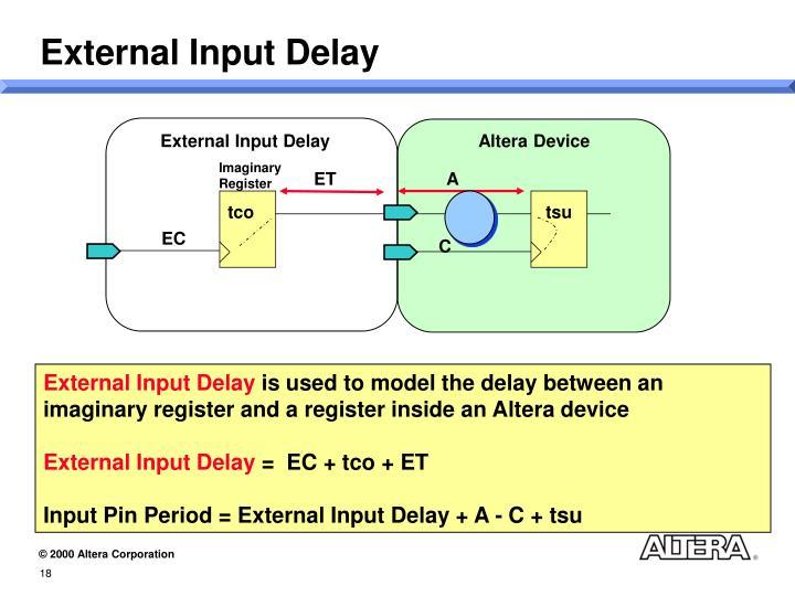 External Input Delay