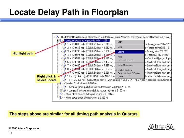 Locate Delay Path in Floorplan