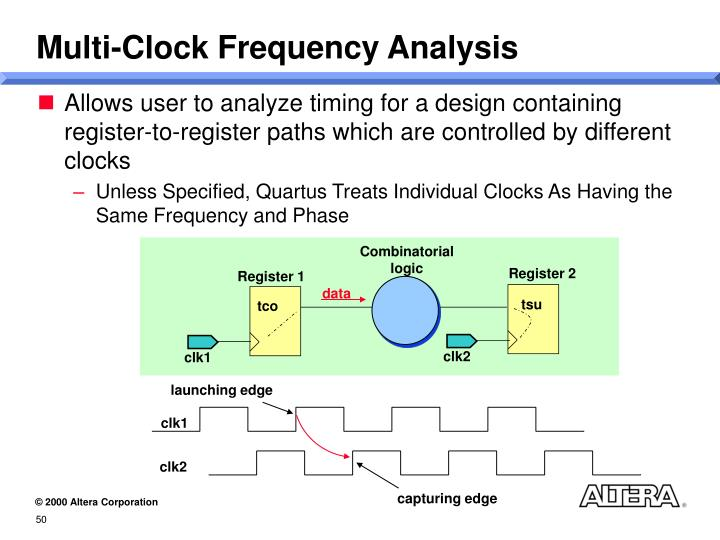 Multi-Clock Frequency Analysis