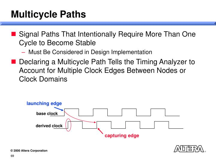 Multicycle Paths