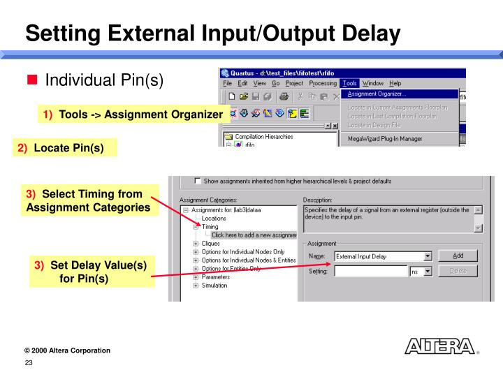 Setting External Input/Output Delay