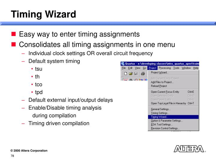 Timing Wizard