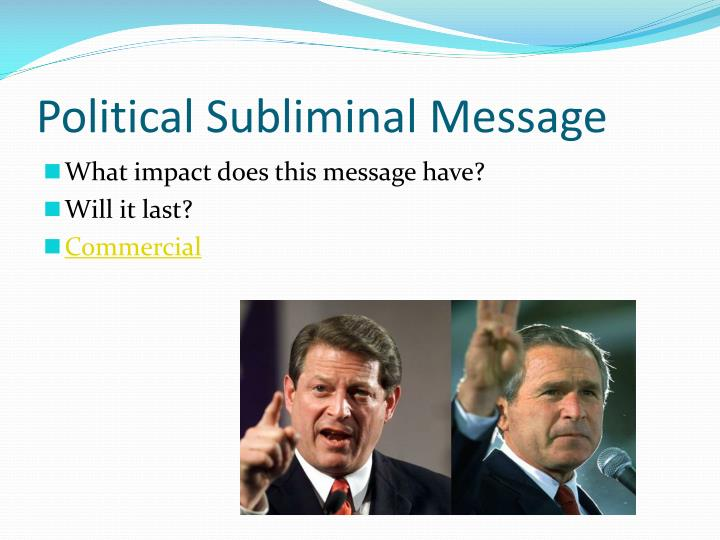 Political Subliminal Message
