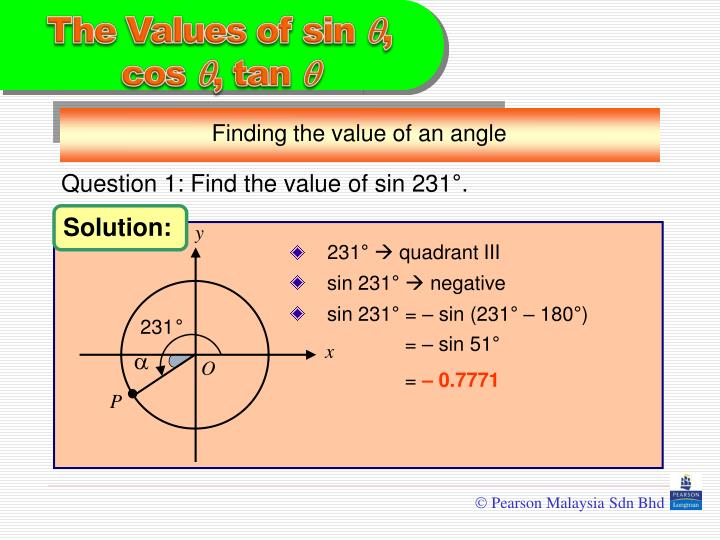 Finding the value of an angle