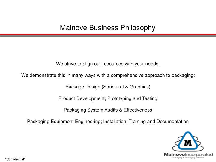 Malnove Business Philosophy
