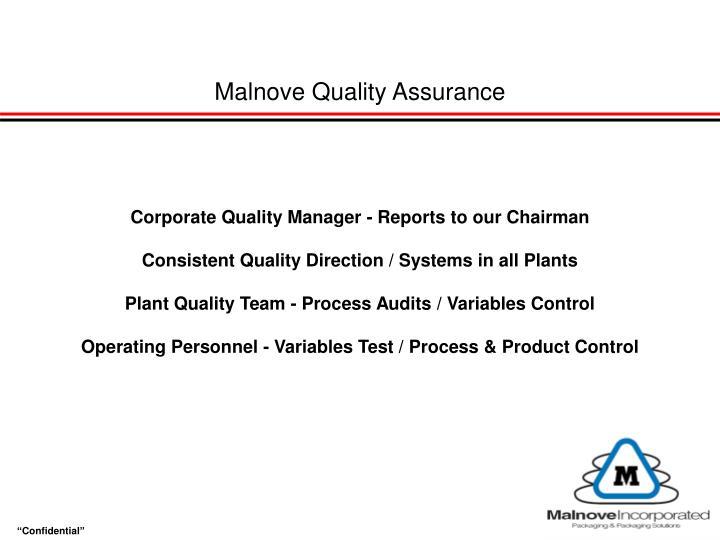 Malnove Quality Assurance