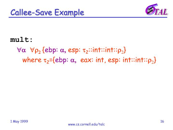 Callee-Save Example