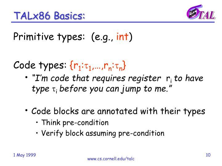 TALx86 Basics: