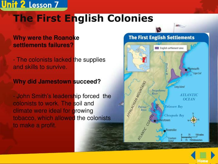 The first english colonies1