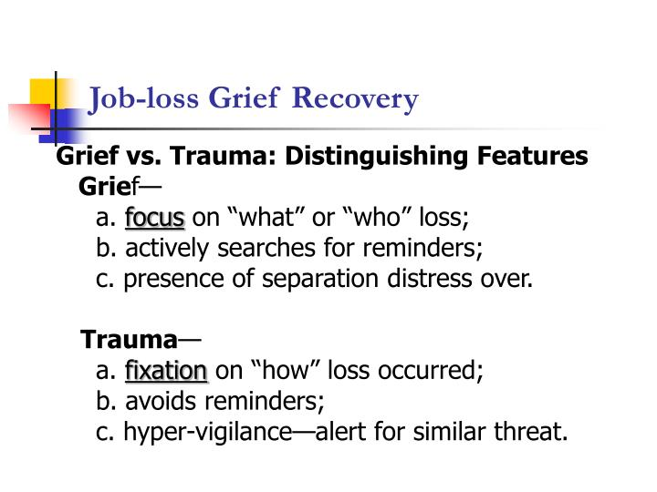 Job loss grief recovery1
