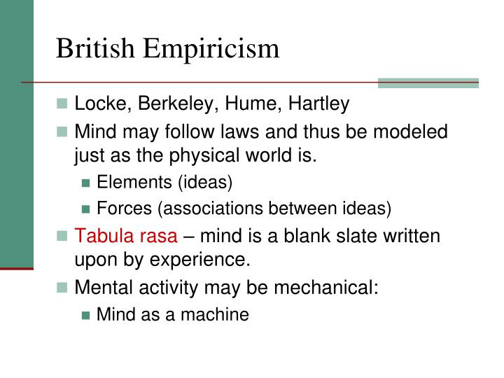 British Empiricism