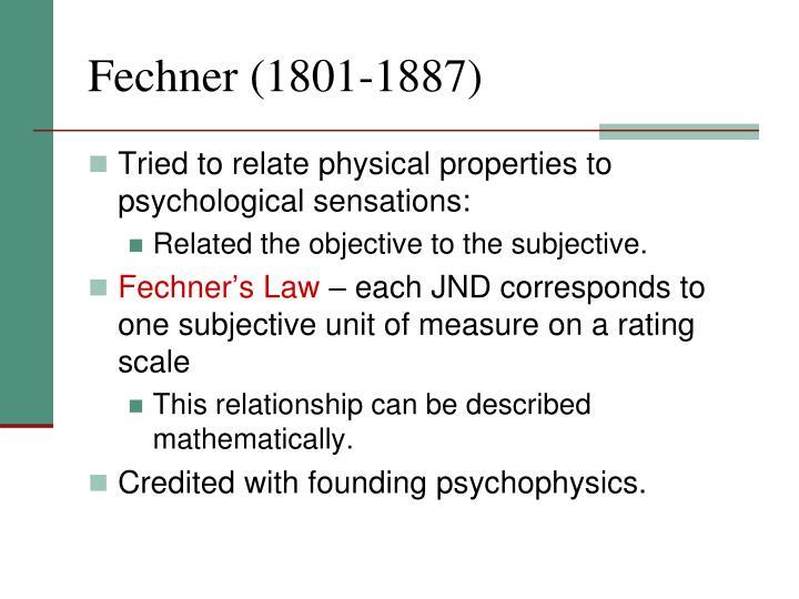 Fechner (1801-1887)