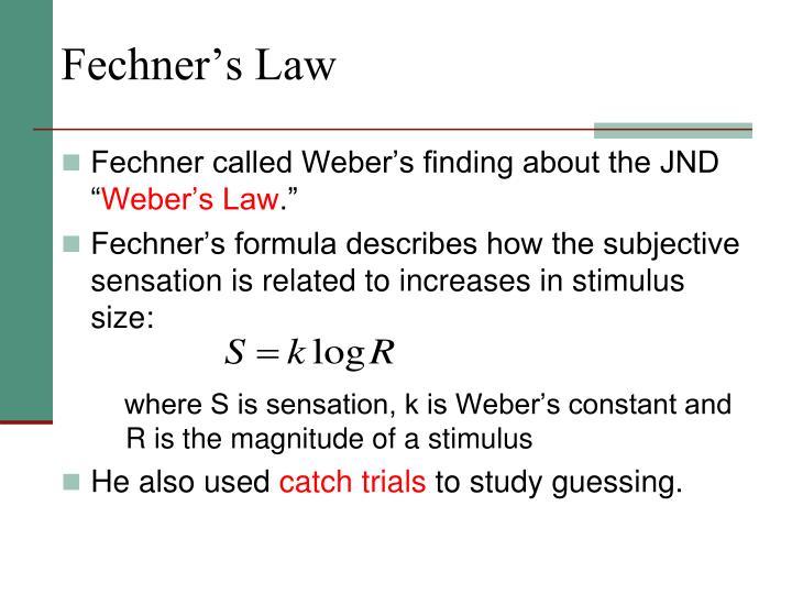 Fechner's Law