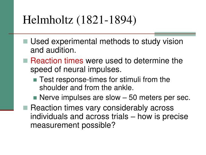 Helmholtz (1821-1894)