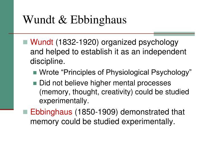 Wundt & Ebbinghaus